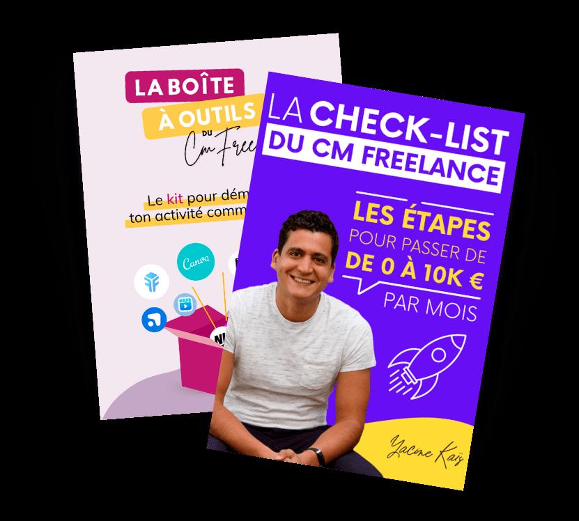 Ton cadeau de bienvenue : la checklist du CM Freelance + la boîte à outil du CM